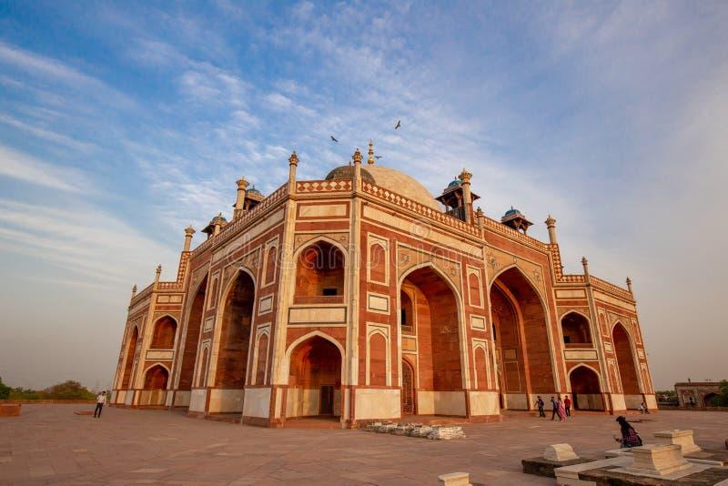 Gravvalv f?r Humayun ` s i Delhi, Indien arkivbild