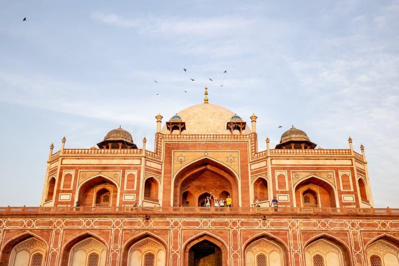 Gravvalv f?r Humayun ` s i Delhi, Indien royaltyfri bild