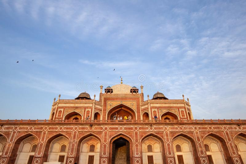 Gravvalv f?r Humayun ` s i Delhi, Indien fotografering för bildbyråer