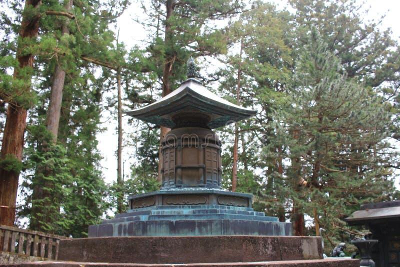 Gravvalvet av Tokugawa Ieyasu i Tosho gu royaltyfri bild