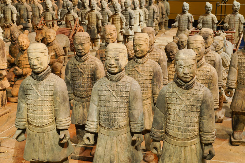 Gravvalvkrigare (terrakottaarmén) royaltyfri foto