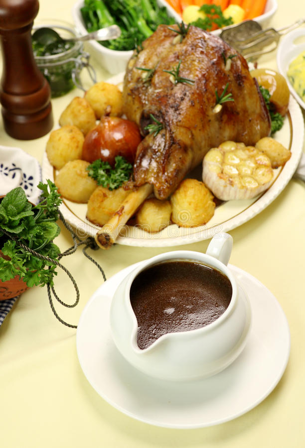 Download Gravy Boat With Lamb Leg Royalty Free Stock Image - Image: 13772696