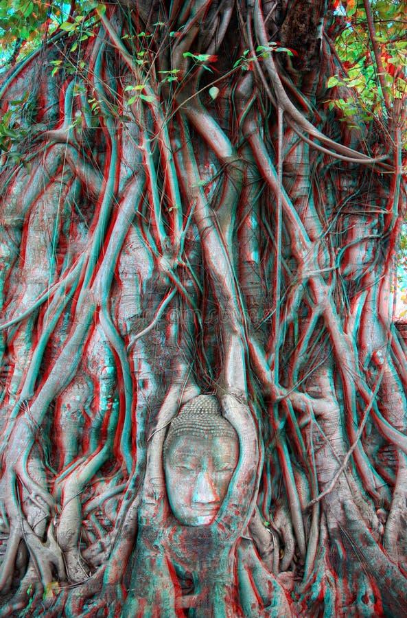 gravyrfoto för 3d buddha arkivfoto