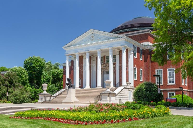 Grawemeyer Hall at University of Louisville. LOUISVILLE, KY/USA JUNE 3, 2018: Grawemeyer Hall on the campus of the University of Louisville royalty free stock photos