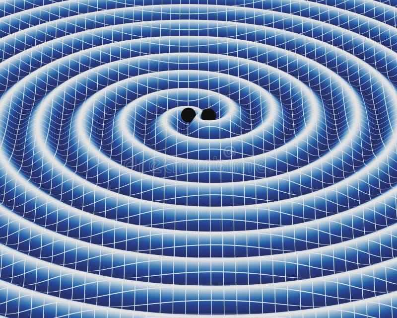 Grawitacyjne fala ilustracja wektor