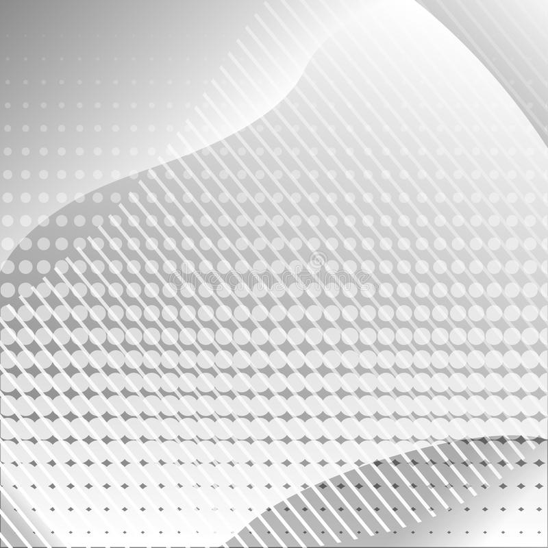 Gray abstract background with lines and dots. Vector. Illustration stock illustration