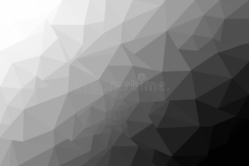 Gray abstract background low poly textured triangle shapes. stock illustration