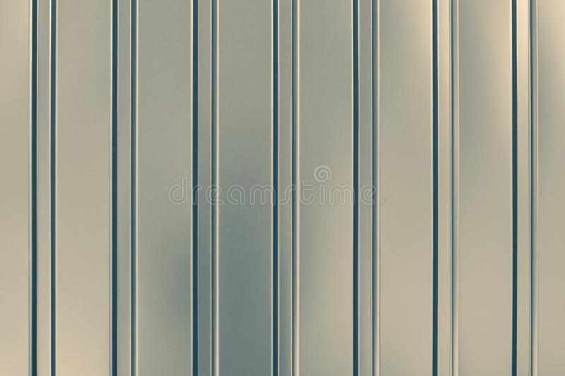 Gray Corrugated Steel Cladding On An Industrial Building