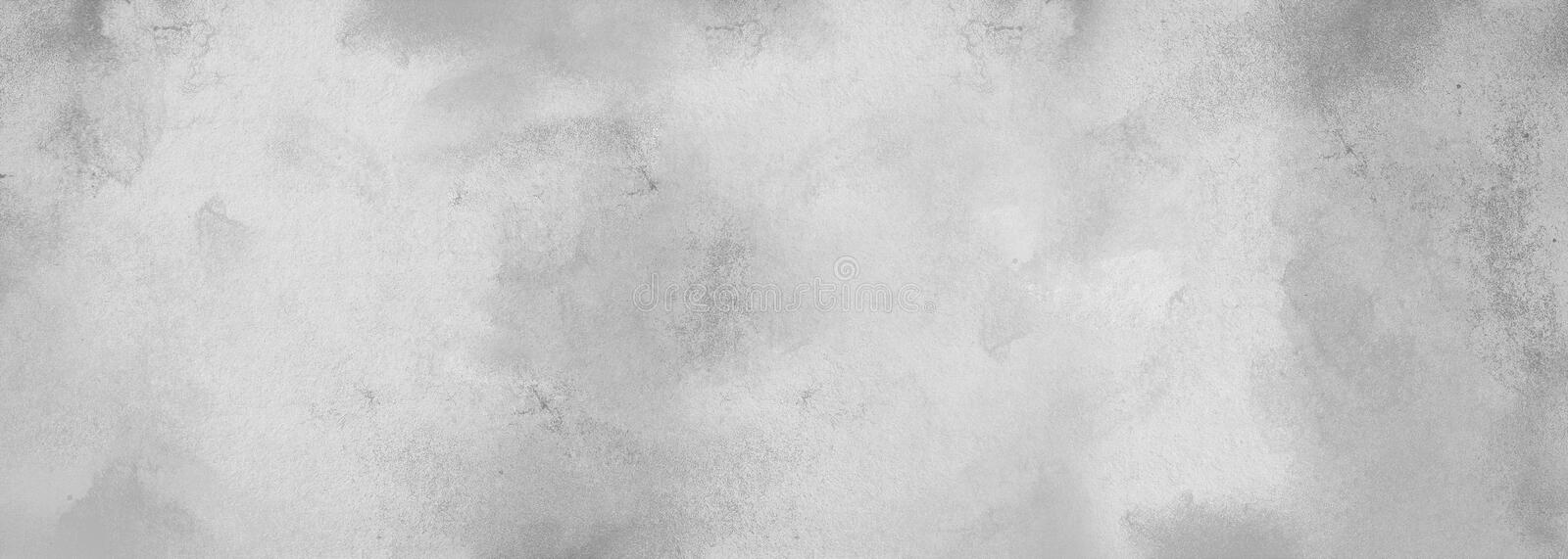 Gray abstract monochrome textured background with spots of paint. The effect of plastering an old wall or paper with ink. stock photography