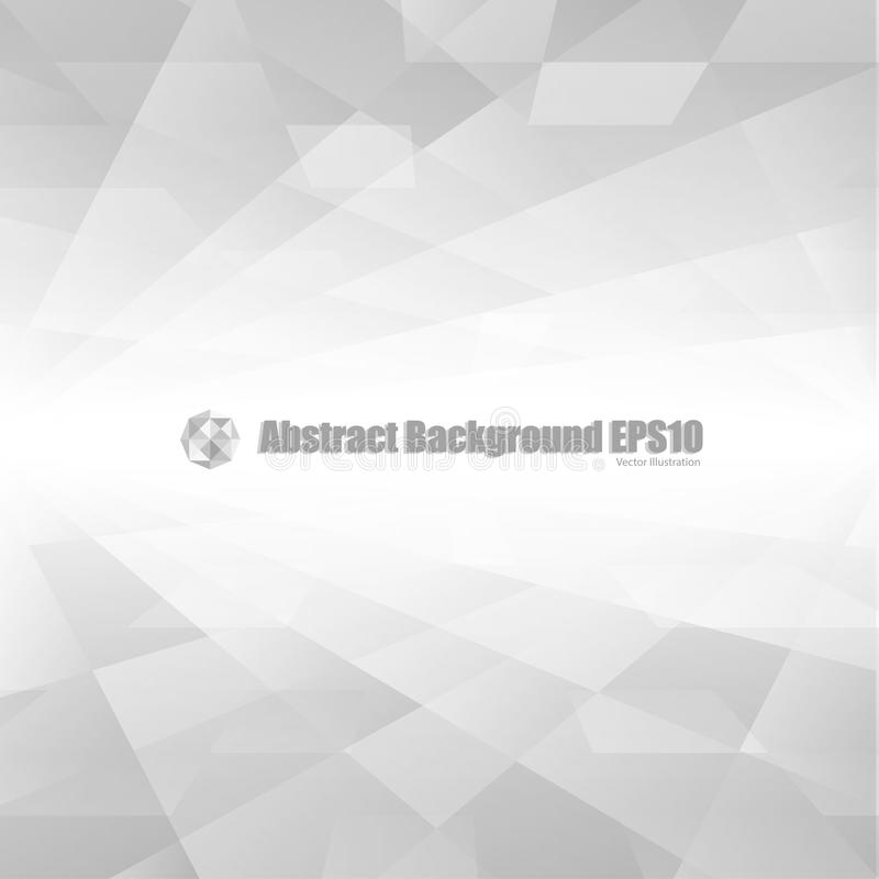 Gray abstract perspective background stock illustration