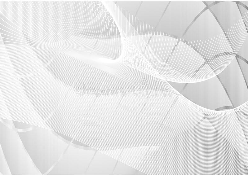 Gray abstract waves straight line background vector vector illustration