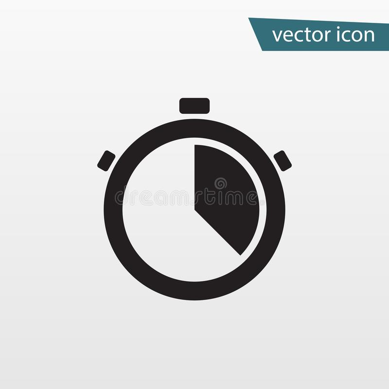 Gray accurate time icon. Modern simple flat stop watch sign. Bus royalty free illustration