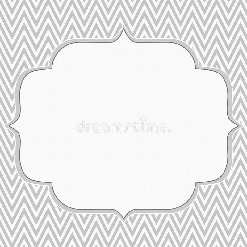 Free Gray And White Chevron Zigzag Frame Background Royalty Free Stock Photography - 45080297