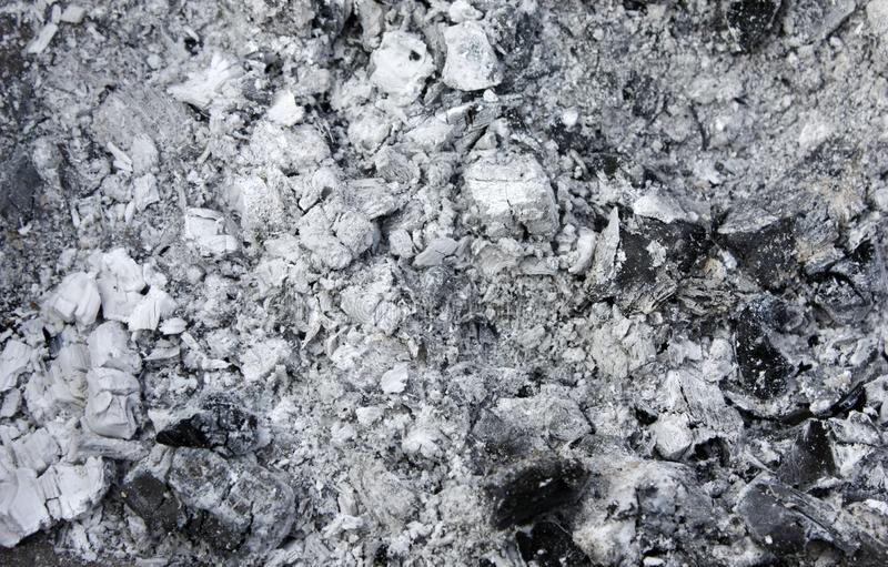 Gray ash from the kiln, background texture, ash, gray ash from wood royalty free stock image