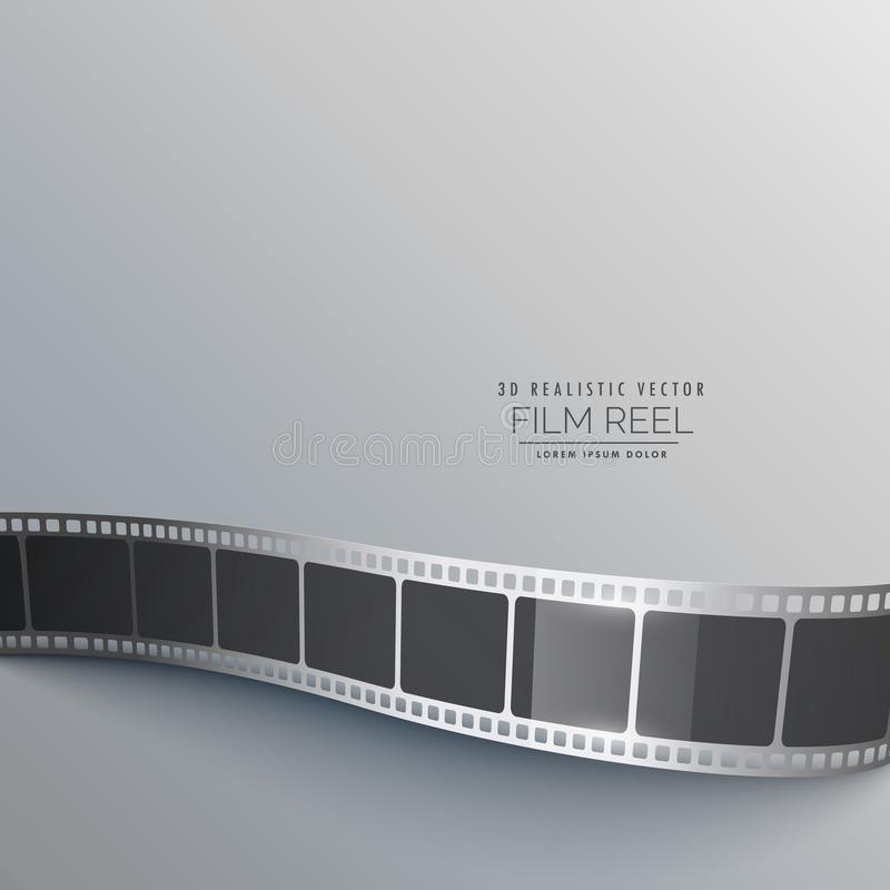 Gray background with film strip stock illustration