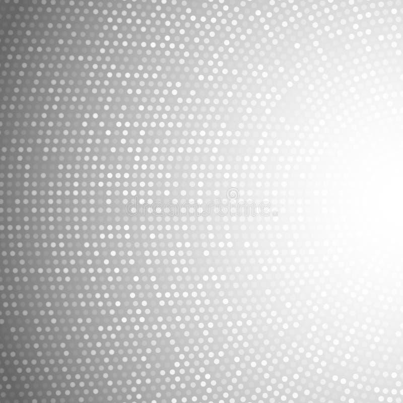 Gray Background ligero circular abstracto stock de ilustración