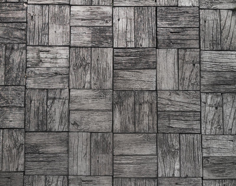 Gray background and railroad ties texture. Wood floor royalty free stock photography