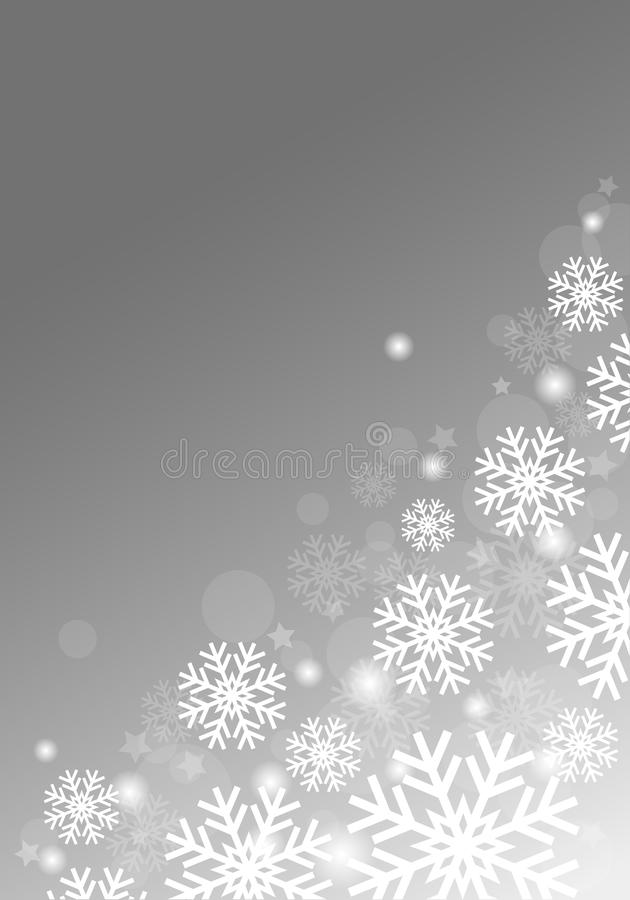 Gray Background With Snowflakes libre illustration