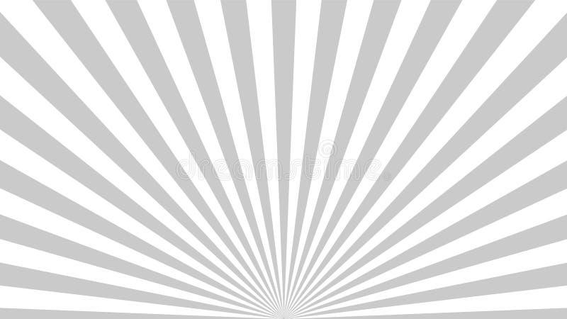 Gray background superhero. Super hero cartoon gradient texture. Sun rays burst. Radiate sun beam, burst effect retro stock illustration