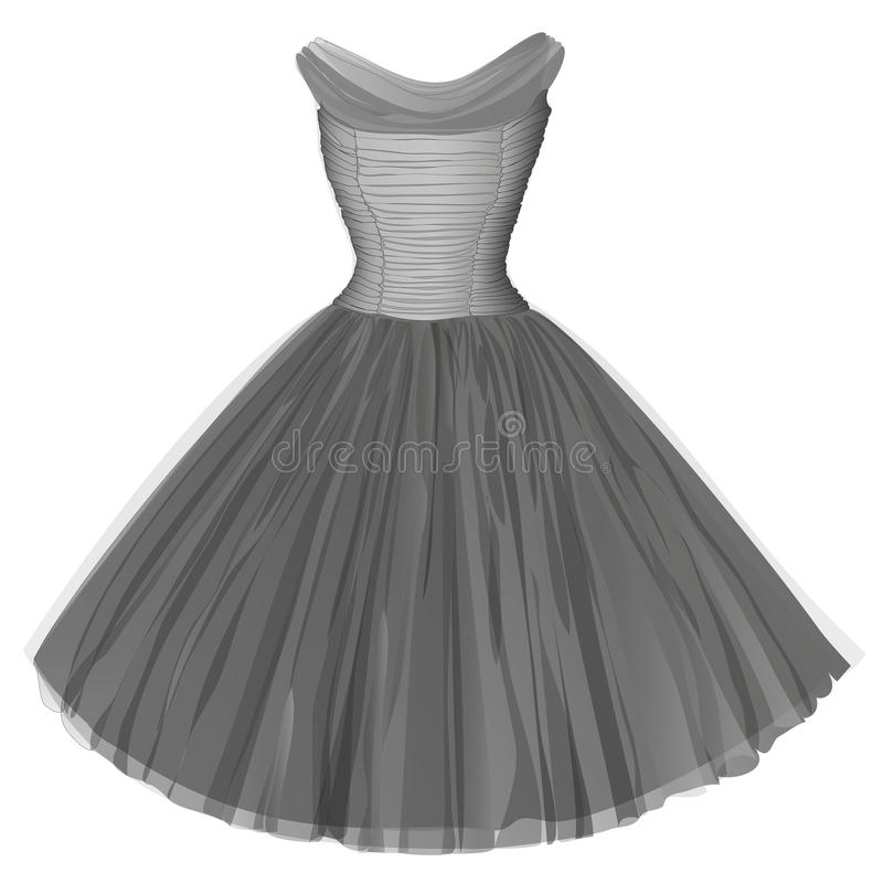 Gray ball dress. Isolated image vector illustration