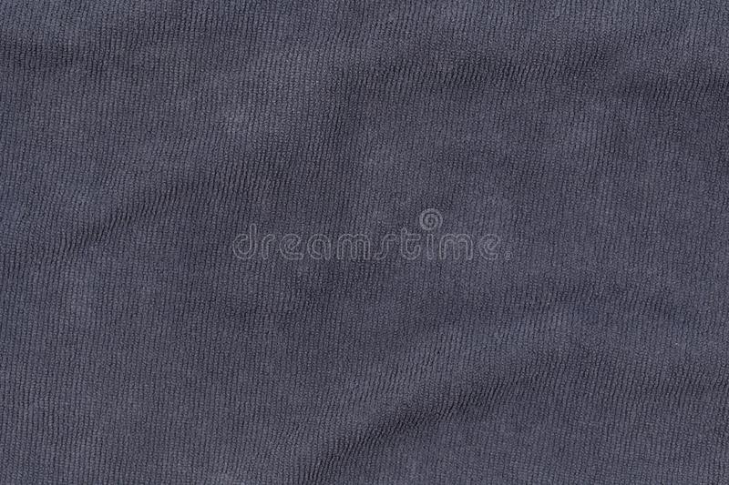 Gray bath towel texture for background and design.  royalty free stock image