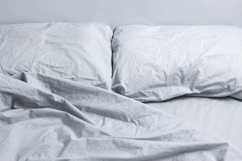 Download Gray bed linen stock image. Image of clean, cotton, horizontal - 28206003