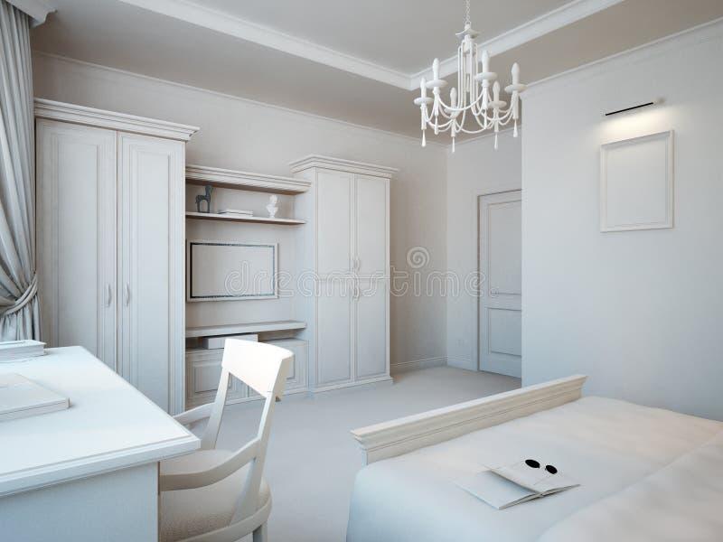 Gray Bedroom vector illustration