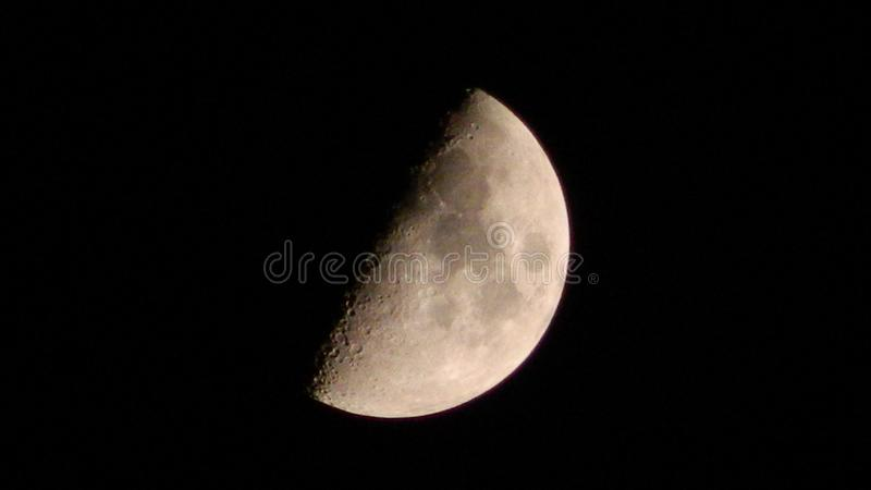 Gray and Black Moon royalty free stock photography