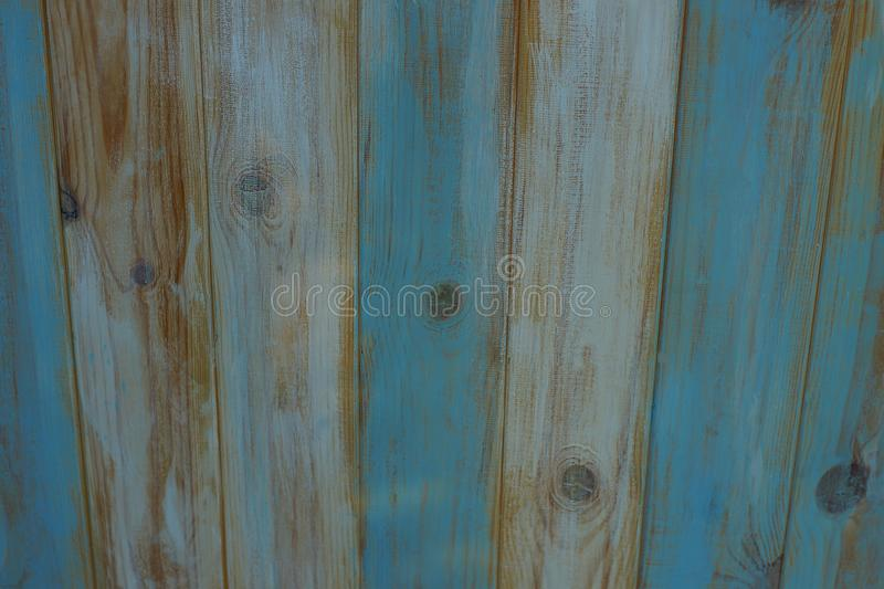 Gray blue background of  wooden fence stock images