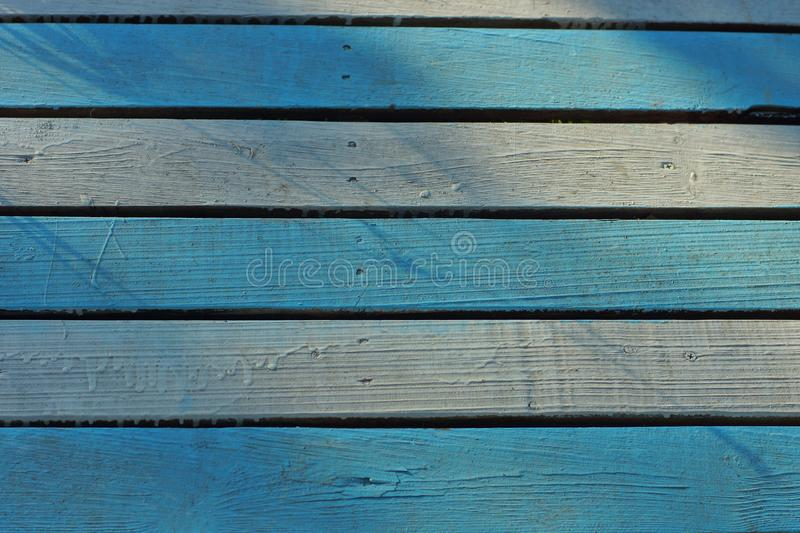 Gray blue background of  wooden fence stock photography