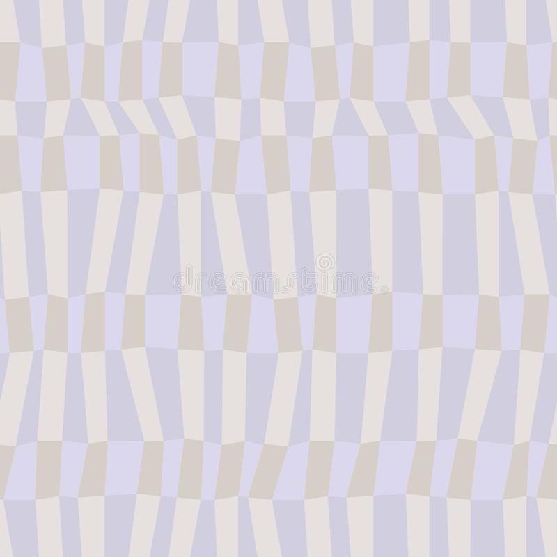 Gray and blue neutral colored chaotic striped geometric seamless pattern, vector. Background vector illustration