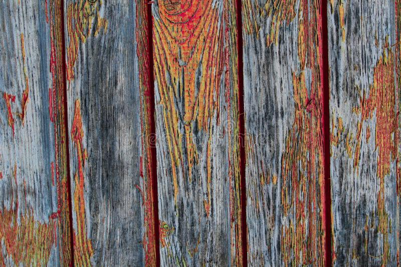 Gray boards flaky orange paint old surface weathered parallel panel background base royalty free stock images