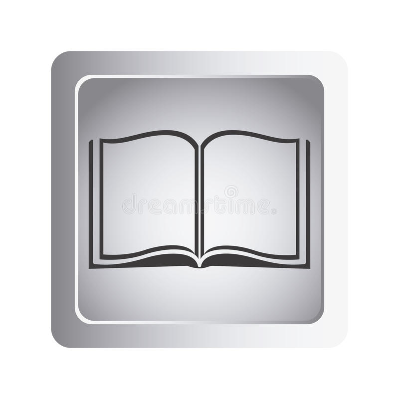Gray book open icon. Illustraction design image vector illustration