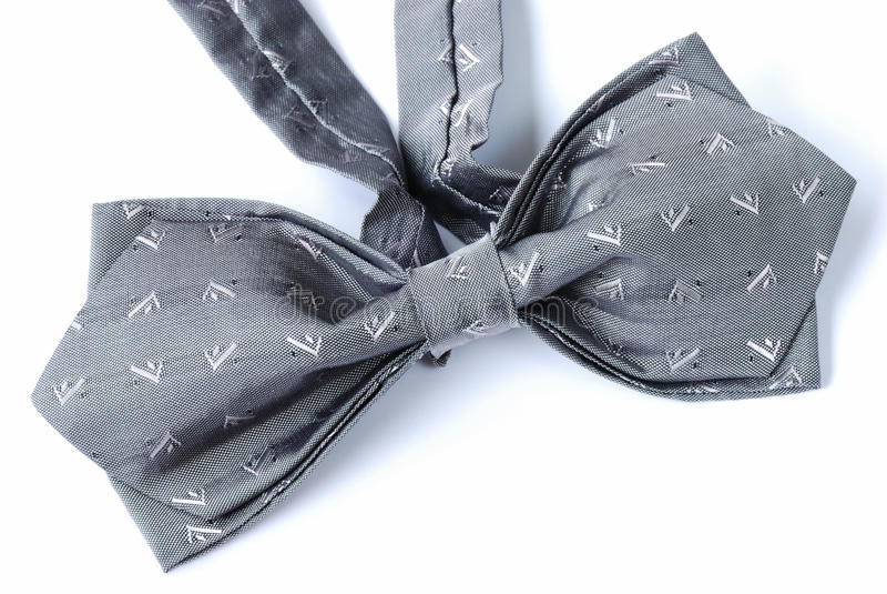 A gray bow tie stock photo