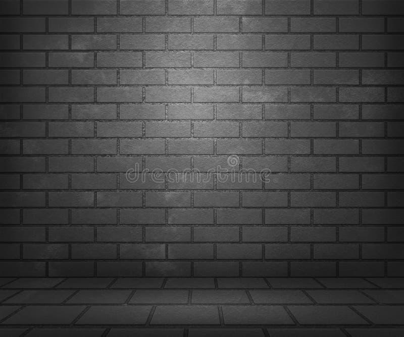 Gray Brick Stage Background immagini stock