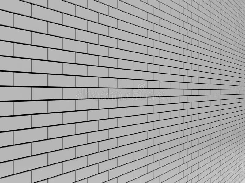 Gray Brick Wall. lizenzfreie abbildung