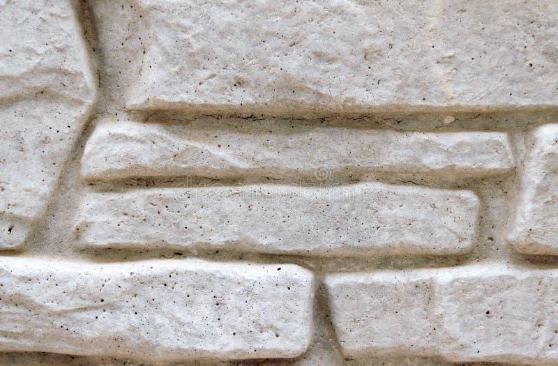 Gray Brick Wall Cerca concreta Fundo estrutural Close-up imagens de stock royalty free