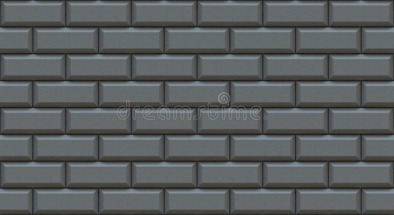 Gray brick wall rectangles with chamfered edge. Empty background. Vintage stonewall. Room design interior. vector illustration
