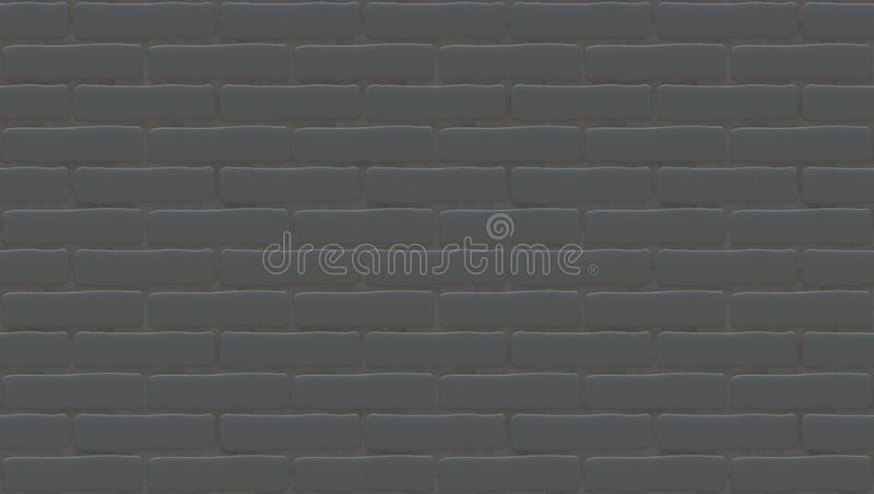 Gray brick wall texture. Empty background. Vintage stonewall. Room design interior. Backdrop for cafe. vector illustration