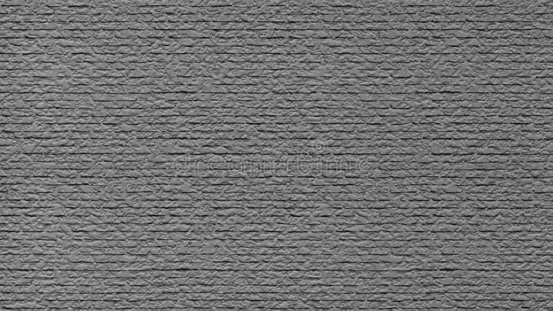 Gray bricks wall with snow shape paint, seamless royalty free stock photo