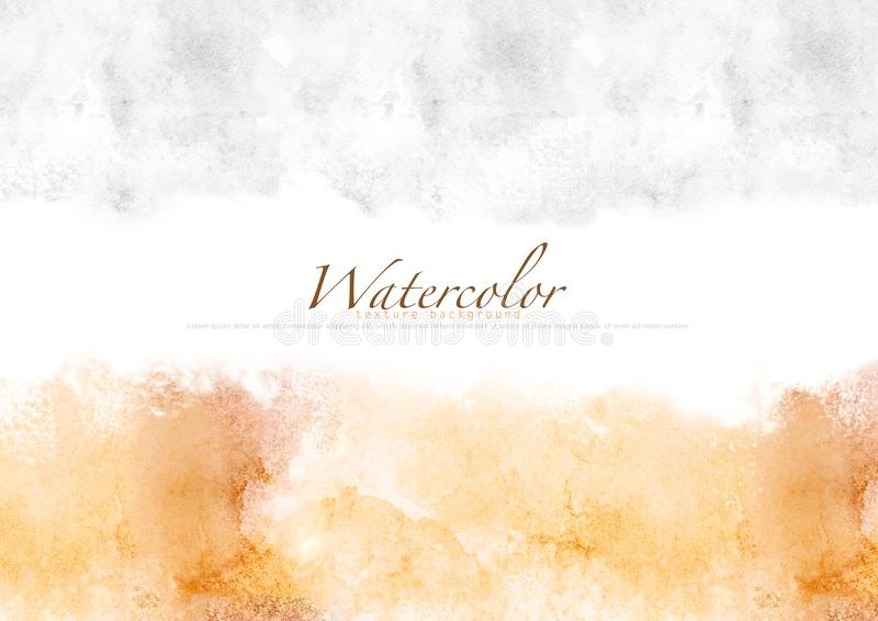 Gray-brown Watercolor texture background, copy space for text. Watercolor texture background for your design, copy space for text.-illustration royalty free illustration