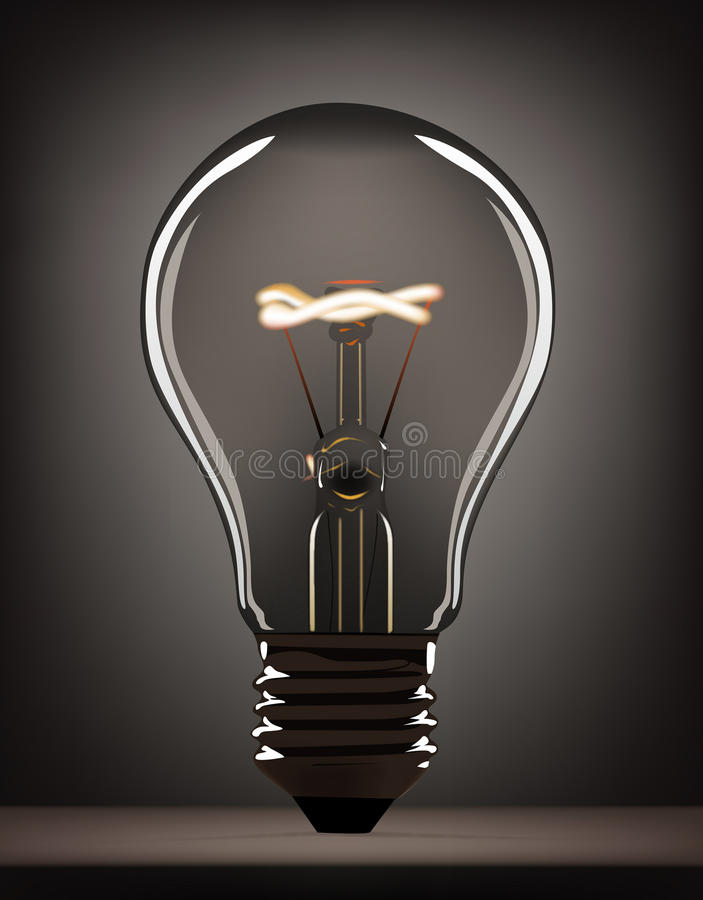 Download Gray bulb stock vector. Illustration of heat, electricity - 16602102