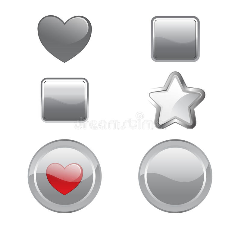 Gray Buttons Stock Photography
