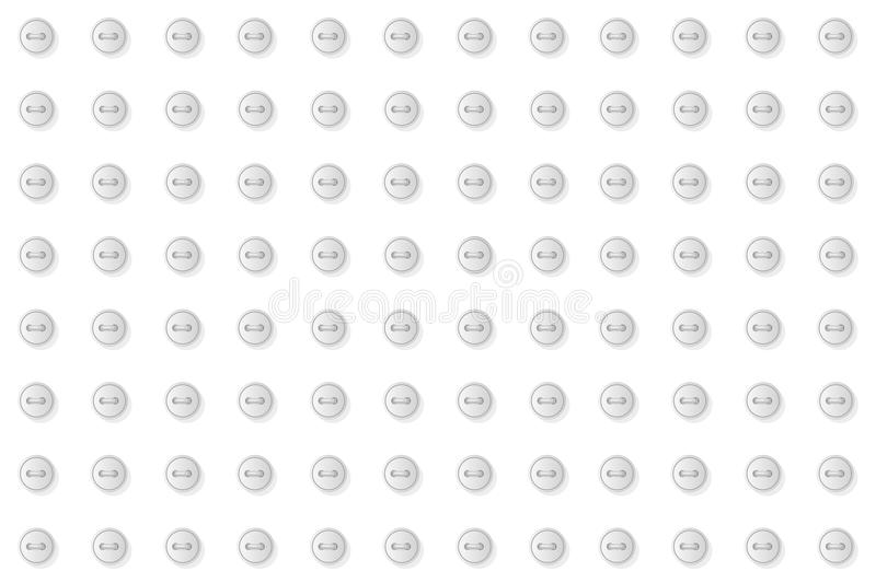 Gray buttons geometric abstract seamless pattern. Monochrome neutral white design background illustration vector illustration