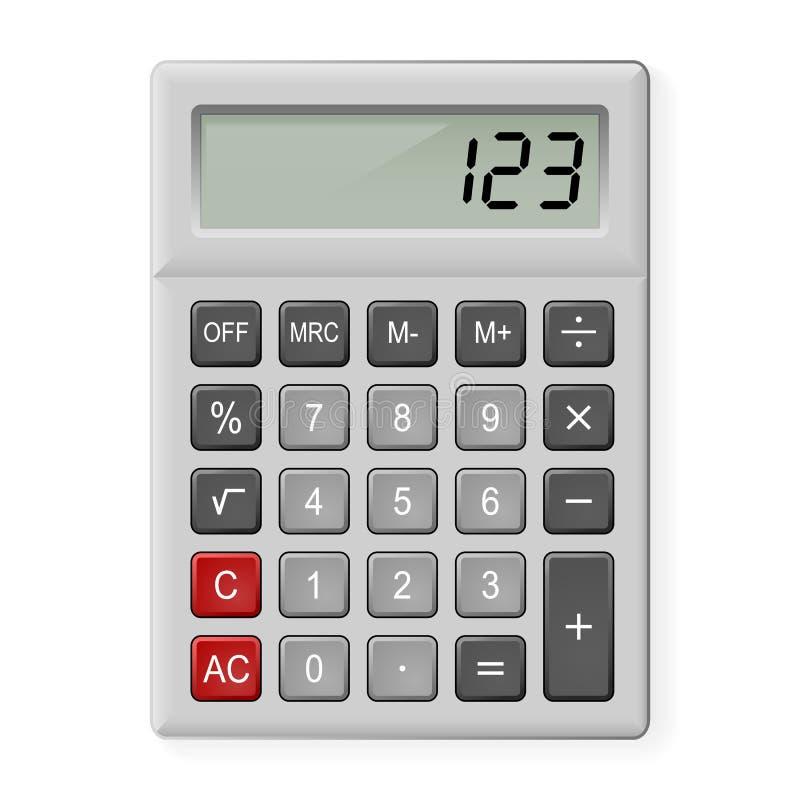 Gray Calculator Stock Photo