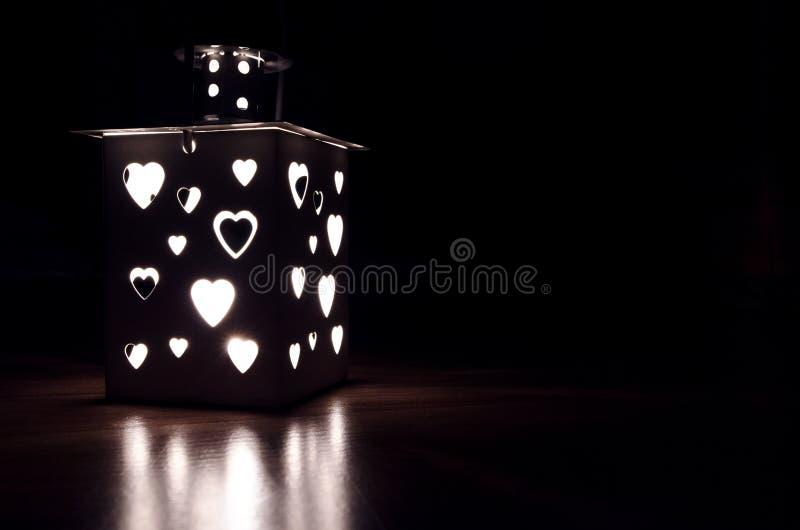 Gray Candle Lantern royalty free stock photos