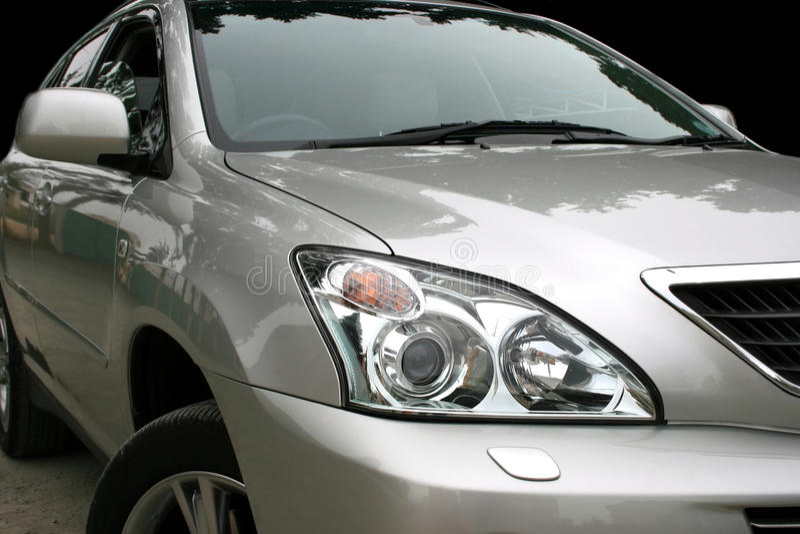 Gray car royalty free stock photos