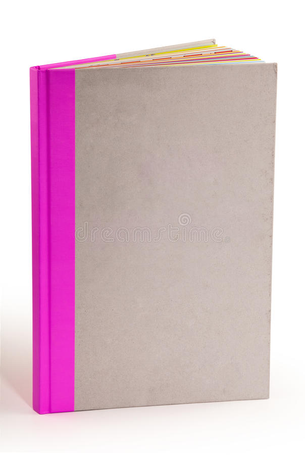 Gray cardboard cover book - clipping path royalty free stock photos