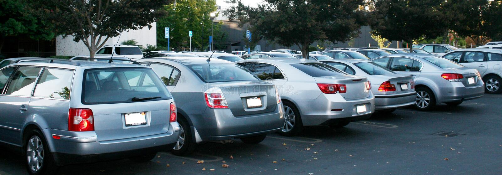 Gray cars stock photo