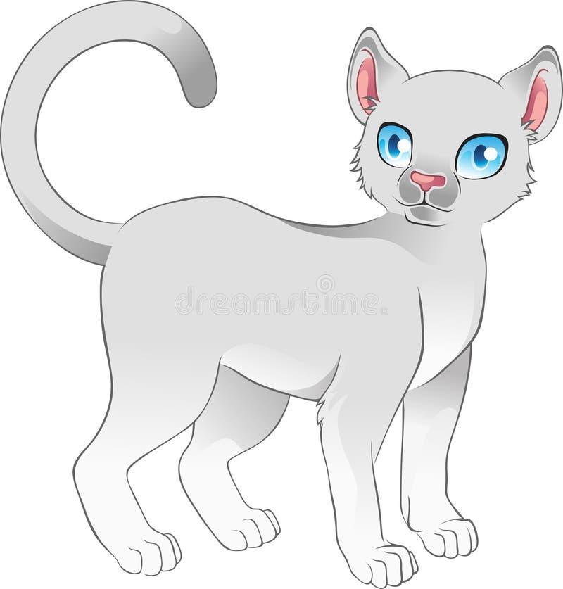 Download Gray cat stock vector. Image of beauty, children, nice - 23494467